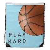 バスケットボール様式のカスタマイズされた印刷190tポリエステルドローストリング袋