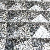 까만 입술 Mop 쉘 불규칙한 삼각형 모자이크