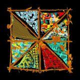 Красивейший шарф напечатанный цифров Silk (F13-0007)