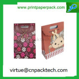 Bolsa de papel modificada para requisitos particulares del regalo de la torta del caramelo de la Navidad con la maneta cortada con tintas
