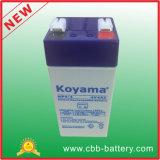 Venda quente e bateria eletrônica acidificada ao chumbo da escala do bom preço 4V4ah 20hr