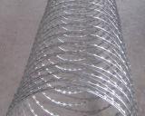 超品質によって電流を通されるPVC上塗を施してあるかみそりの有刺鉄線