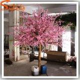 정원 훈장 분홍색 인공 실크 벚꽃 나무