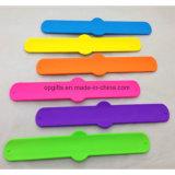 Wristband riflettente su ordinazione di schiaffo del silicone del braccialetto di schiaffo del PVC