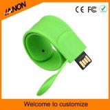 Muchas clases de mecanismo impulsor del flash del USB de la pulsera con su insignia