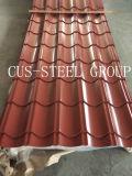 Z-Tipo telhas de Poland de telhadura do metal do Ribbing/folhas de aço da telhadura perfil da telha