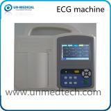 Tres canales de la máquina de ECG portátil con pantalla táctil (ONU8003)