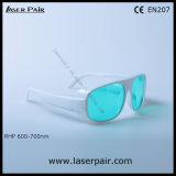 Горячий продавать защитных стекол лазера 600-700nm для лазеров 635nm 650nm 694nm красных, рубин с рамкой 52
