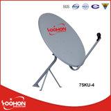 antenna della televisione via satellite di 75cm con la certificazione della galleria del vento