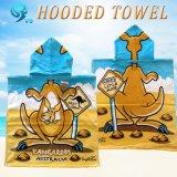 100%年の綿のベロアの反応印刷された習慣はフード付きタオルをからかう