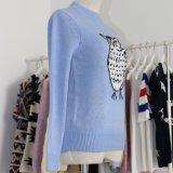 Maglione popolare di Intarsia del punteruolo di modo delle signore con i manicotti lunghi ed il collo rotondo