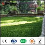 Лужайка аттестованная Ce естественная зеленая искусственная сада травы Carpert