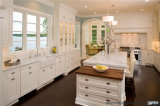 Gabinete de cozinha personalizado da mobília da madeira contínua