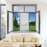 Aluminiumglasfabrik im China-Fenster konzipiert Art-Vorhang-Bogen-Fenster