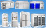Refrigerador comercial do indicador do refrigerador da porta de vidro vertical