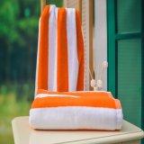De promotie Sneldrogende Gestripte Katoenen Bad/Handdoek van het Strand