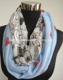 Première écharpe d'imitation de vente de Tublar de coton d'impression de Jont de pastèque (HWBPS879)