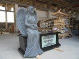 Pietra tombale famosa & Mounument del granito di angelo con figura del cuore