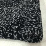 Stampa pronta/di riserva del leopardo del tessuto delle lane del jacquard