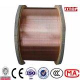 4/0 3/0 2/0 1/0 fil en aluminium plaqué du conducteur CCA d'en cuivre nu de câble cuivre