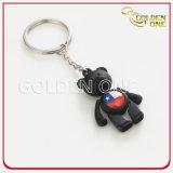 Metal impresso colorido Keychain do logotipo do urso costume encantador