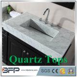 Bancada Polished elevada da pedra de quartzo para o banheiro & a cozinha