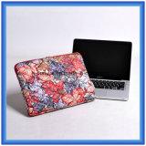 Einfacher Art-Laptop-beweglicher Beutel, Fabrik bilden kundenspezifisches volles Oberflächenblumen-Drucken-Laptop-/Hülse abzudecken