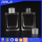 bottiglia di profumo di vetro trasparente rettangolare di 30ml 1oz modellata