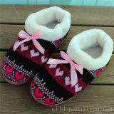 De Vrouwen van dames breien Schoenen van het Schoeisel van de Pantoffels van Pantoffels de Binnen