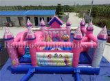 Heißer Verkaufs-aufblasbare rosafarbene Prinzessin Bouncer, aufblasbare Prinzessin Bouncer und Plättchen kombiniert