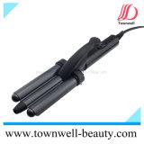 Usine de professionnels de commerce de gros cheveux avec le socle du dispositif de courbure, revêtement en céramique tourmaline de barils