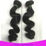 100%の加工されていなく緩い波の自然なインドのバージンの毛