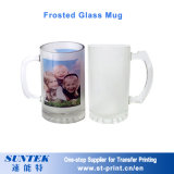tasse en verre de la sublimation 11oz transparente avec le bord d'or