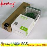 Impresión de encargo del logotipo de la cámara etiqueta colgante caja de papel con ventana de PVC / almeja