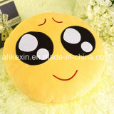 Yellow Soft Kids Emotion Peluche Toy Emoji Oreiller pour la décoration