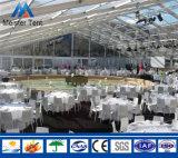 Tente claire d'usager de mur en verre de toit pour le banquet
