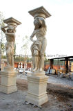 Colonna statuaria di pietra della colonna di marmo della colonna