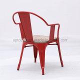 나무로 되는 시트 (SP-MC093)를 가진 빨간 금속 대중음식점 의자
