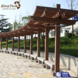 Gazebo compuesto de madera WPC del jardín al aire libre chino barato impermeable