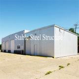 Oficina personalizada pré-fabricada da construção de aço do projeto