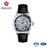 骨組機械贅沢なステンレス鋼の中国の製造者メンズ腕時計