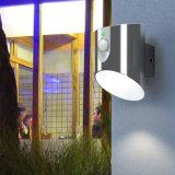 Luz solar do diodo emissor de luz da parede do jardim da lâmpada ao ar livre do sensor de movimento de PIR