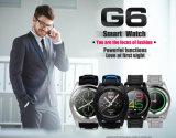 Wristwatch монитора сна дистанционного управления вахты Psg горячего монитора тарифа сердца No 1 G6 Bluetooth 4.0 Smartwatch франтовской для Android планки серебра TPU телефона Ios франтовской