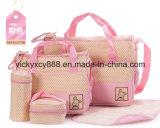 Saco do mensageiro do tecido da mamã do frasco de alimentação do alimentador do organizador do bebê (CY3634)