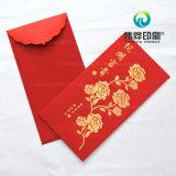 Красное бумажное печатание содержа деньг как подарок для детей,