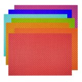 8X8 rote Farbe Gewebe gesponnenes Placemat