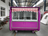 Carro móvel da grade do fast food ao ar livre do indicador de vidro de deslizamento