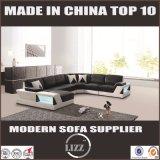 Divany la plupart de sofa populaire de salle de séjour de cuir de patte d'acier inoxydable