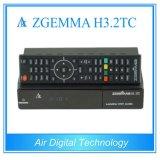 DVB-S2+2xdvb-T2/CはチューナーのZgemma H3.2tc衛星またはケーブルの受信機の二重コアLinux OS Enigma2のメディアプレイヤー二倍になる