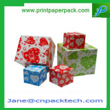 Anillo de fantasía Joyería de pendientes de caja de regalo de Navidad Caja de embalaje de papel